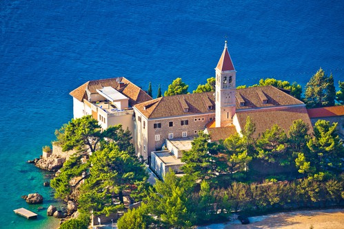 Bol church and monastery on Brac coast, Croatia