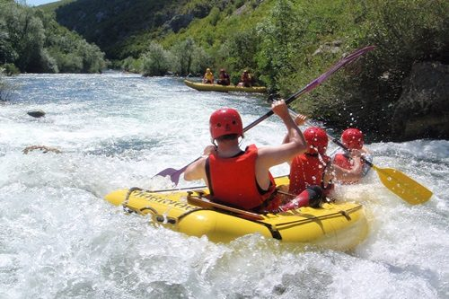 River rafting on the Cetina River in Croatia