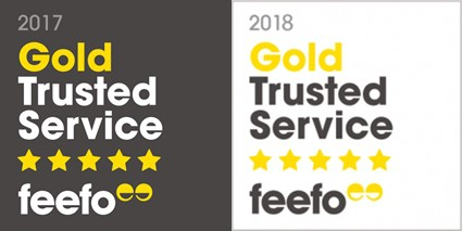 Feefo Gold Trusted Service Awards