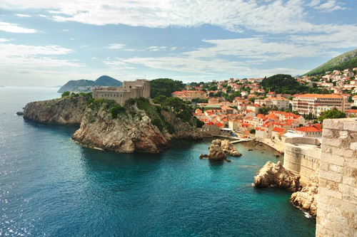 Fortress of Dubrovnik on the Adriatic Sea