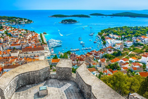 Hvar town Adriatic Sea, Croatia