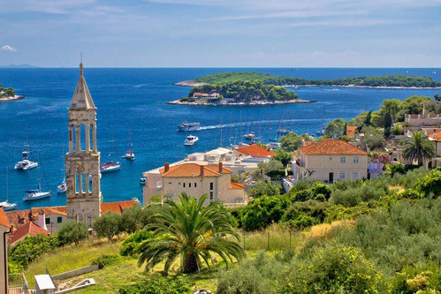 Hvar, Paklinski islands background, Dalmatia, Croatia