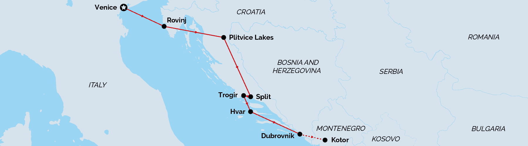 Land map - Ultimate Croatian Love Story