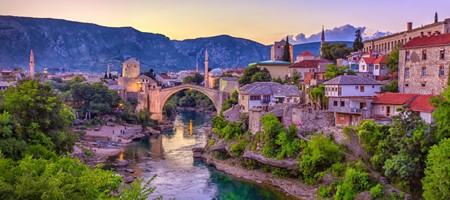 Mostar Bridge in Bosnia