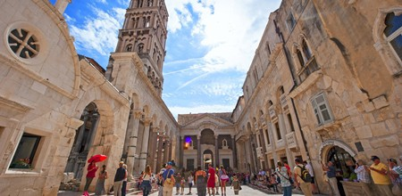 Diocletian Palace in Split Croatia