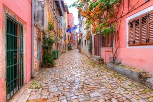 Streets of Rovinj in Croatia