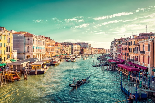 The Grand Canal in Venice in Italy