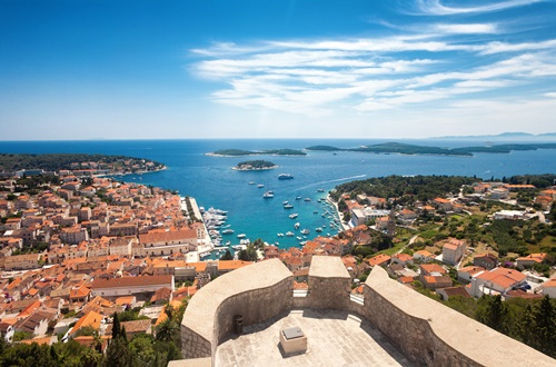 View over Hvar and the Pakleni Islands