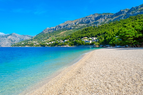 Beautiful beaches along the Makarska Riviera