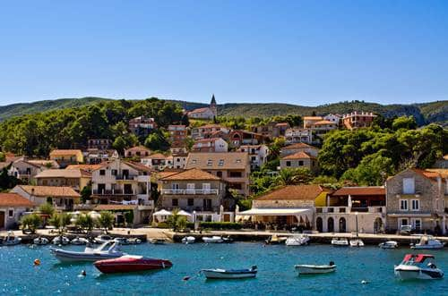 Port of Jelsa town on Hvar island, Croatia
