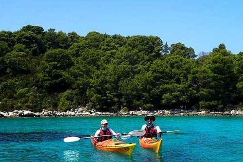 Kayaking in Mjet, Croatia