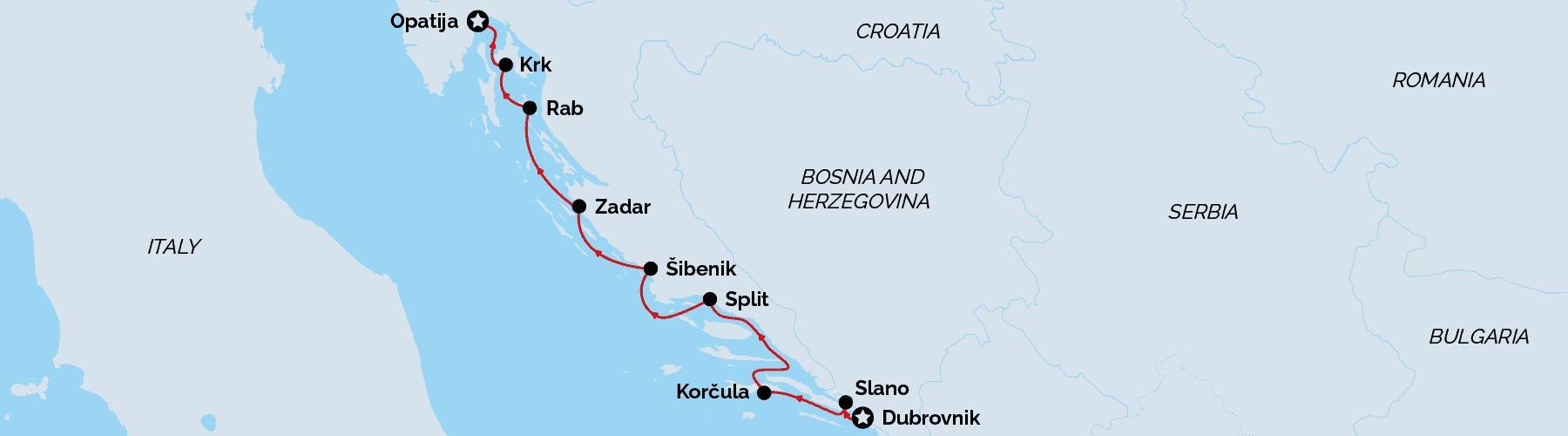 Dubrovnik to Opatija Signature Cruise