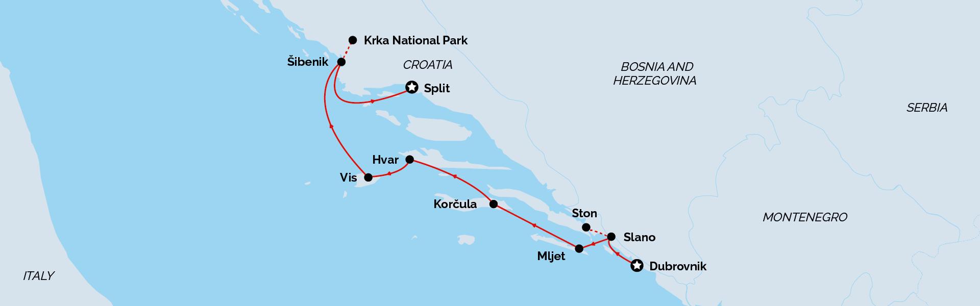 Signature Dubrovnik to Split Cruise