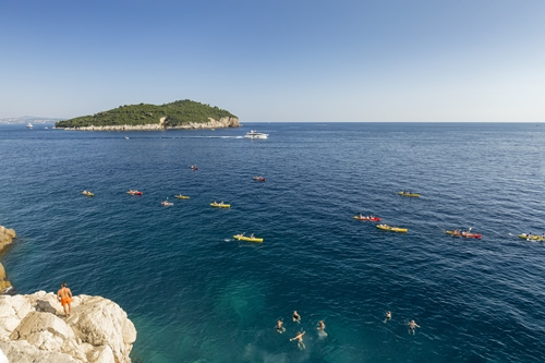 Kayaking in Dubrovnik, Adriatic Sea