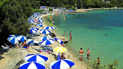 Beach in Slano, Croatia