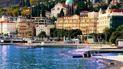 Opatija cathedral and city view