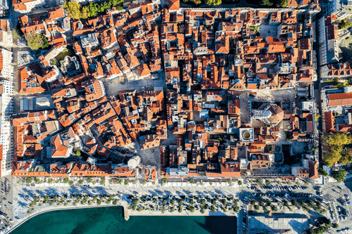 Split Aerial View, Croatia