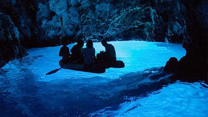 Blue Cave, Bisevo, Croatia