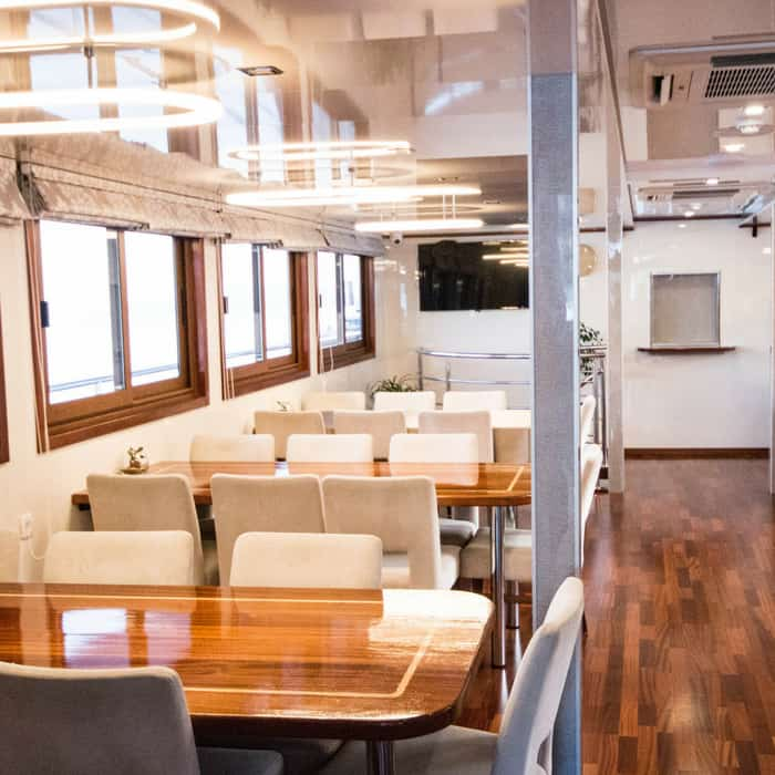 MV Dream, inside dining area