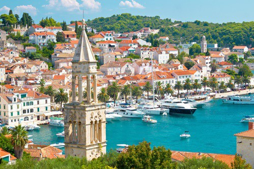 View of Hvar Town, Croatia