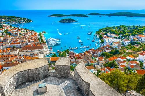 Overlooking Hvar Town, Croatia