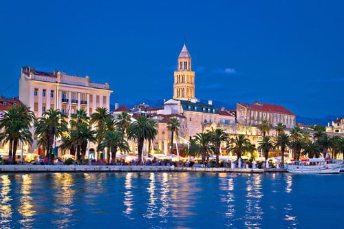 Split waterfront in the evening, Croatia