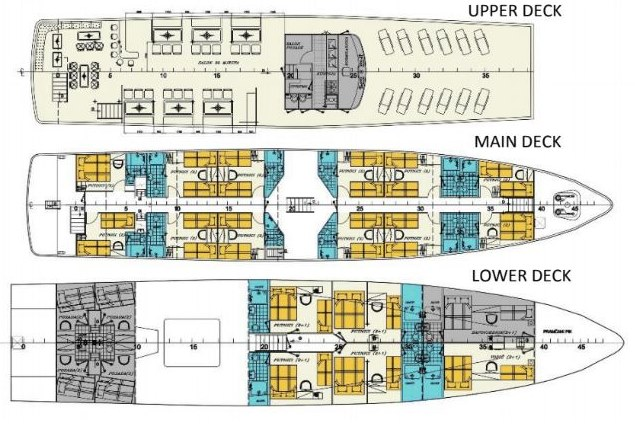 MS Seagull deck plan