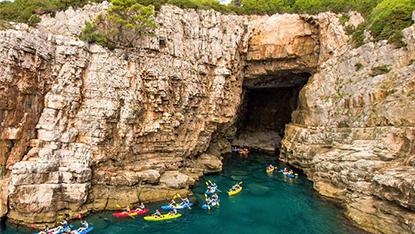 Kayaking near Lokrum Island, Croatia
