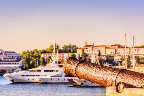 Korcula town marina, Croatia
