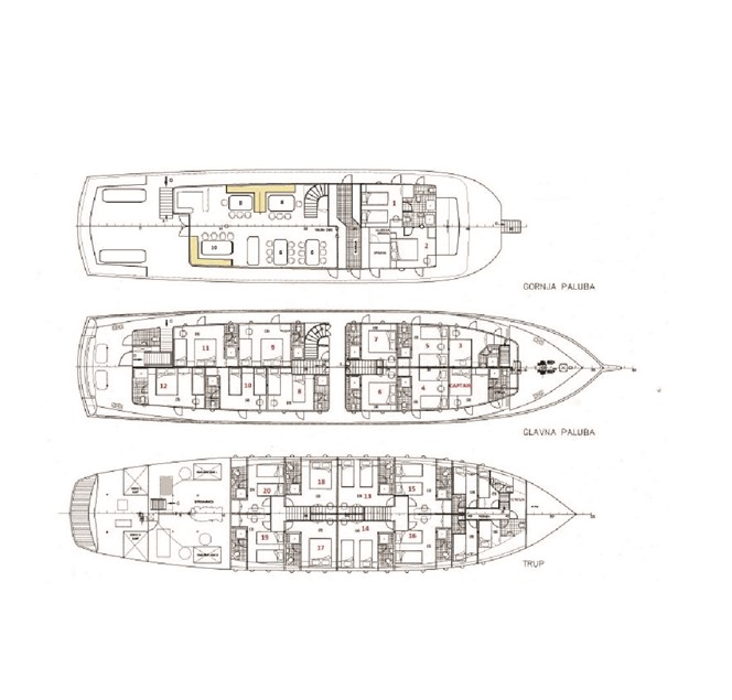MS Paradise, deck plan