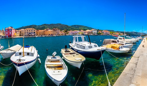Mediterranean summer panorama Hvar
