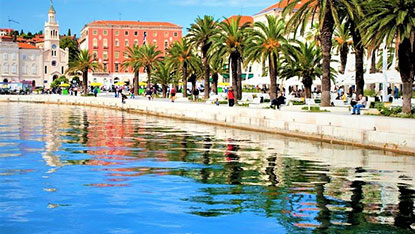 Split Riva, Croatia