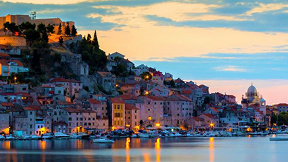 Sibenik at night, Croatia