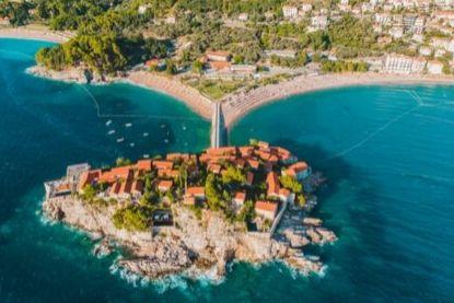 Becici aerial view, Montenegro