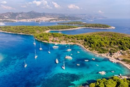 Aerial View of Plakinski Islands, Croatia