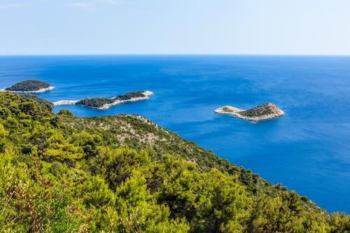 Adriatic landscape on Mljet island