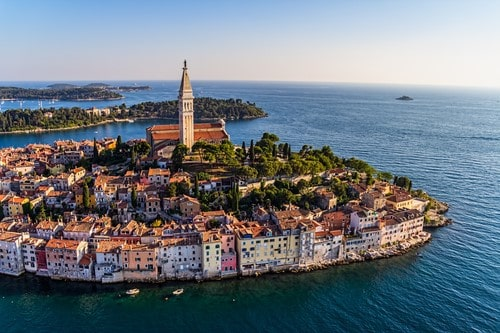 Aerial shoot of Rovinj