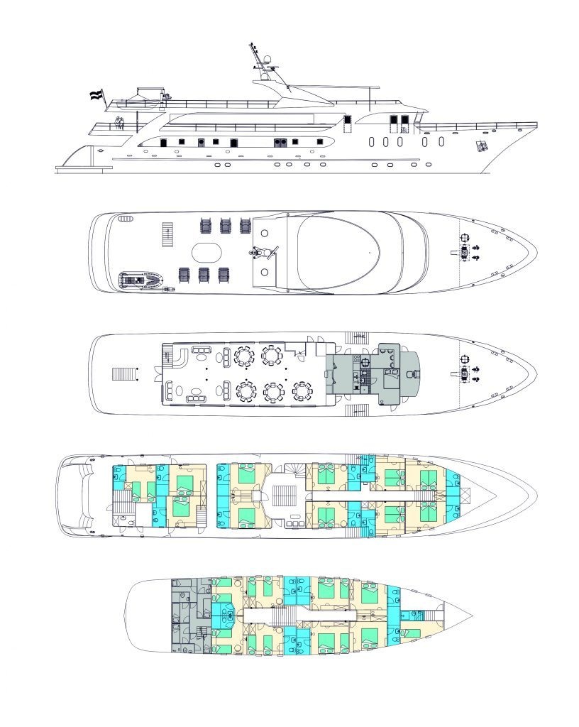 MV Maritimo, deck plan