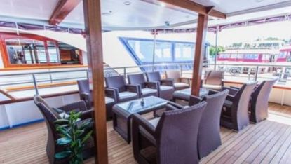 Superior Cruise Ship, outside lounge area