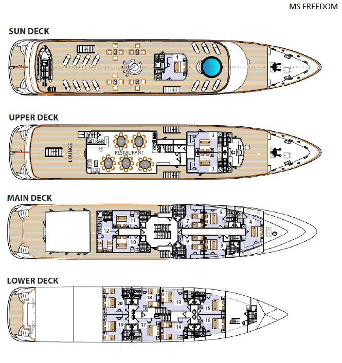 MS Freedom Deck Plan, Unforgettable Croatia