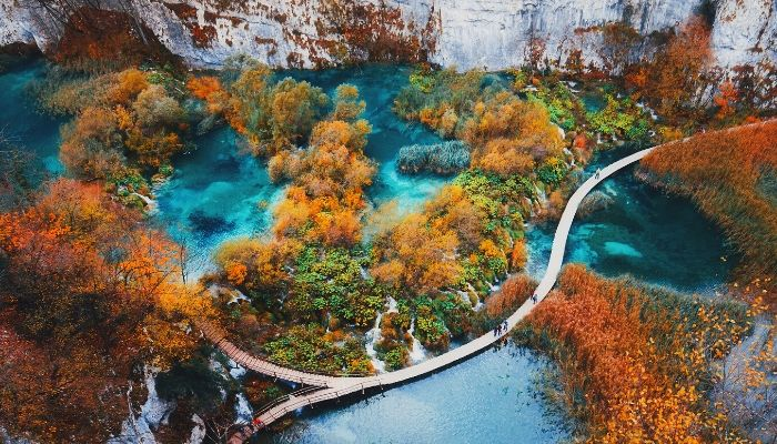 Plitvice Lakes in Fall