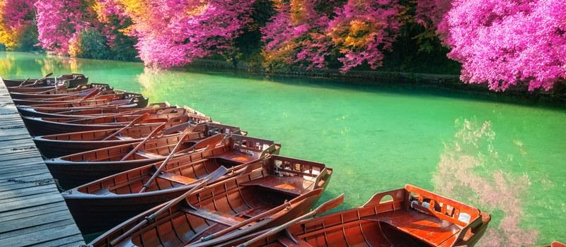 Plitvice Lakes boats