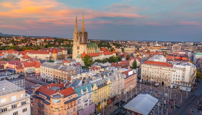 Skyline of Zagreb
