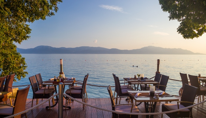 Sea bar in Croatia